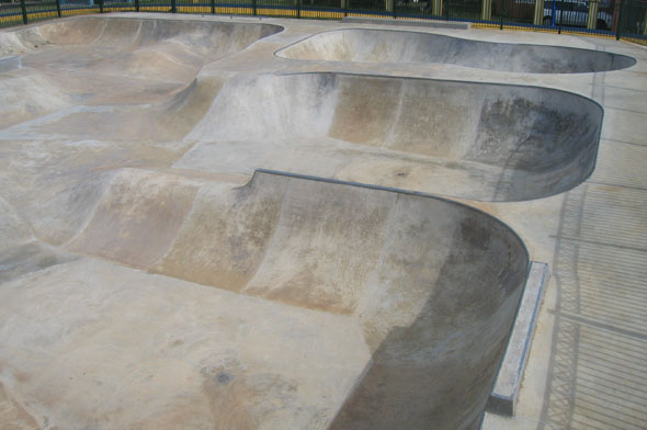 Skatepark with Bowls and Street